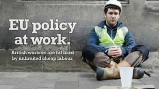 شکوه کارگر بریتانیایی در مورد کارگران خارجی