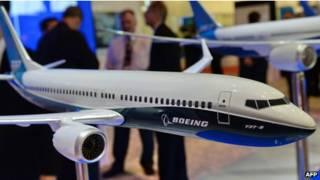 Modelo de avión Boeing 737