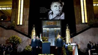 رئيسا المكسيك وكولومبيا شاركا في حفل تأبين جارسيا ماركيز أديب نوبل في مكسيكو سيتي