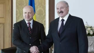 Александр Турчинов и Александр Лукашенко