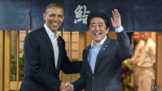 Barack Obama na Shinzo Abe