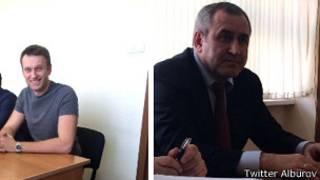 Алексей Навальный и Сергей Неверов