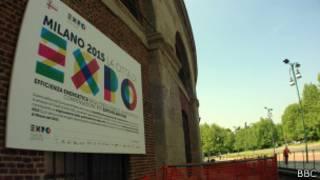 Canteiro de obra da Expo 2015