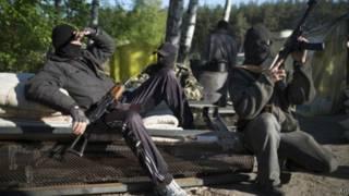 Пророссийские активисты на Востоке Украины
