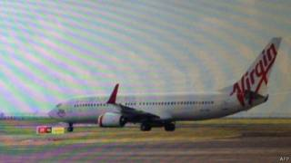 Самолет Virgin Australia, приземлившийся в аэропорту Бали