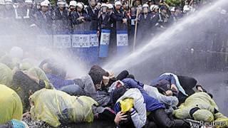 Protesta en Taipei