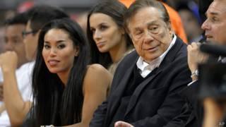 Donald Sterling con su novia