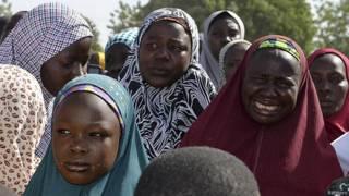 Familiares de las niñas secuestradas