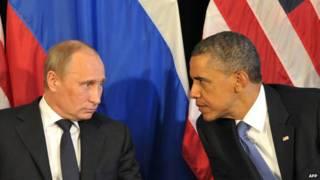 الرئيسان الأمريكي باراك أوباما والروسي فلاديمير بوتين