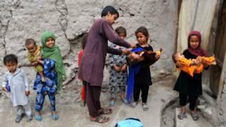 Вакцинация против полиомиелита в Афганистане