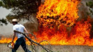 آتش سوزی طبیعی در غرب آمریکا