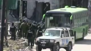Abarwanya leta ya Syria bariko barava mu muji wa Homs