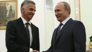 Несподівана заява Путіна з'явилась після зустрічі із президентом Швейцарії