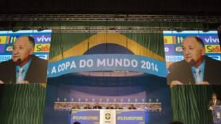 Felipão na convocação da seleção para a Copa (AFP)