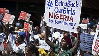 Manifestación en Sudafrica por la liberación de las niñas