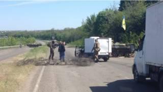 Checkpoint em Sloviansk (BBC)