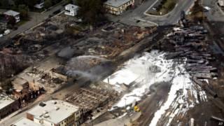 Крушение поезда в Канаде