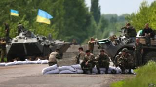 Украинские войска вблизи Славянска 13 мая 2014 года