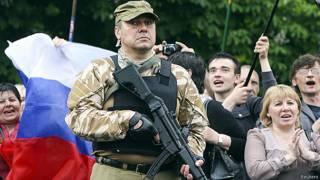 Prorrusos celebran referendo en Luhansk
