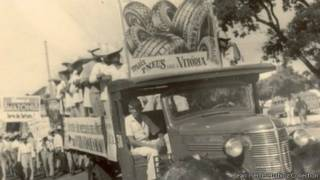 حافلة تقل عمال المزارع في البرازيل
