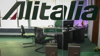 Oficina de Alitalia cerrada en Caracas