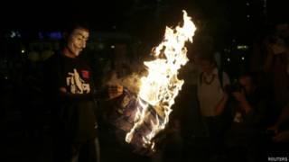 Protesto. Foto: Reuters