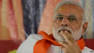 Кандидат в премьер-министры Индии Нарендра Моди