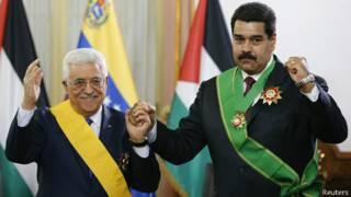 Mahmud Abbas y Nicolás Maduro