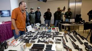 Armas decomisadas en Argentina