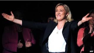 زعيمة الجبهة الوطنية الفرنسية مارين لوبان