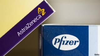 عبوات أدوية لشركتي استرا زينيكا البريطانية وفايزر الأمريكية