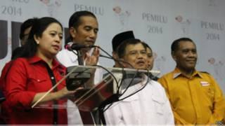 Jokowi dan JK di KPU