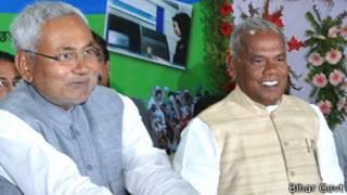 नीतीश कुमार के साथ जीतन राम मांझी
