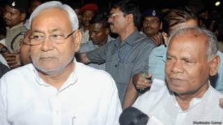 नीतीश कुमार और जीतन राम मांझी