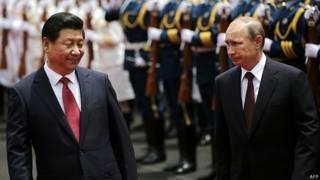 Визит Путина в Китай
