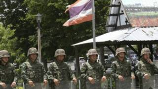 الجيش التايلاندي في شوارع البلاد