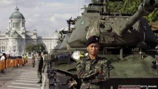 Militares en Bangkok.