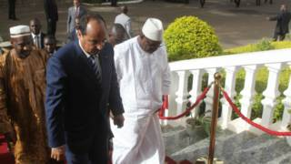 الرئيس الموريتاني مع الرئيس المالي