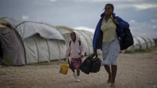 Campo haitiano (AP)