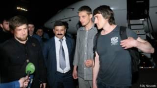 Рамзан Кадыров и журналисты Lifenews и в аэропорту Грозного