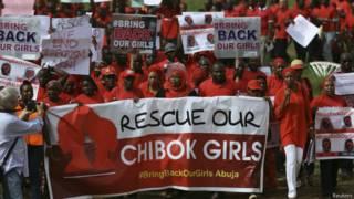 Протесты с требованием вернуть девочек
