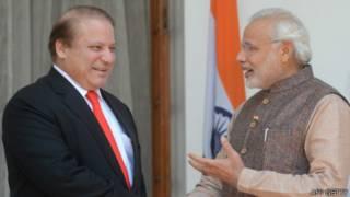 لقاء رئيس الوزراء الهندي مودي ونظيره الباكستاني نواز شريف