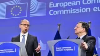 یاتسنیوک و رئیس کمیسیون اروپا