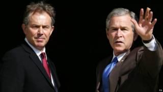 Тони Блэр и Джордж Буш