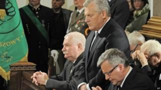Польские лидеры на похоронах Ярузельского