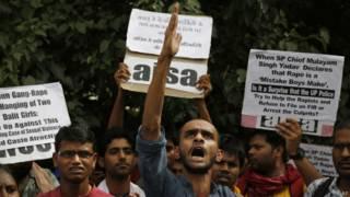 Protesto na Índia (AP)
