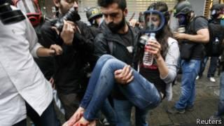 Разгон протестов в Стамбуле