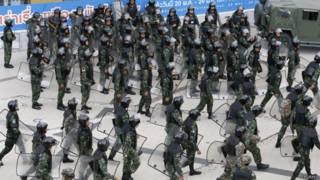 Солдаты в центре Бангкока