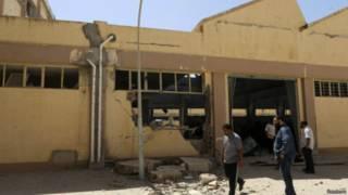 آثار القصف في بنغازي