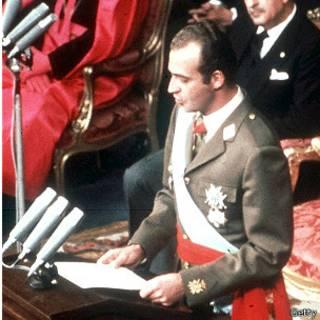 El rey Juan Carlos I, en un discurso tras su coronación